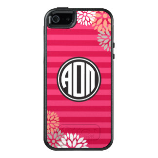 Alpha Omicron Pi | Monogram Stripe Pattern OtterBox iPhone 5/5s/SE Case