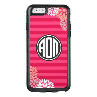 Alpha Omicron Pi   Monogram Stripe Pattern OtterBox iPhone 6/6s Case