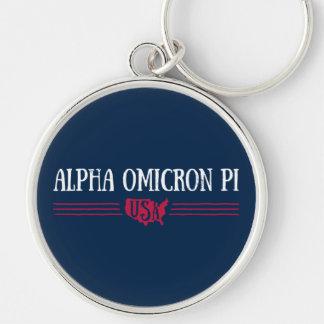 Alpha Omicron Pi USA Keychain