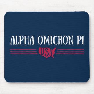 Alpha Omicron Pi USA Mouse Pad