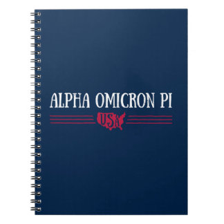 Alpha Omicron Pi USA Notebook
