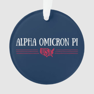 Alpha Omicron Pi USA Ornament