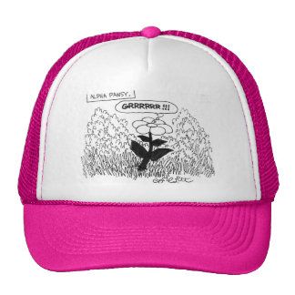 "Alpha Pansy: ""GRRRR!"" Trucker Hat"