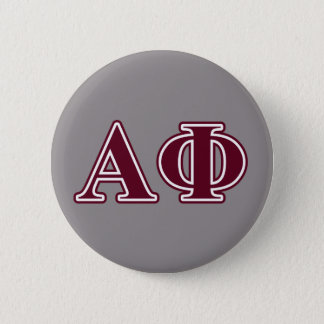 Alpha Phi Bordeaux Letters 2 Inch Round Button