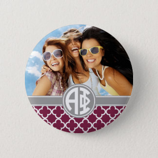Alpha Phi | Monogram and Photo 2 Inch Round Button