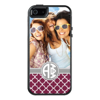 Alpha Phi | Monogram and Photo OtterBox iPhone 5/5s/SE Case