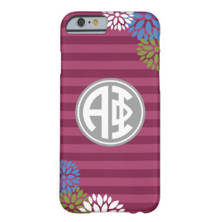 Alpha Phi | Monogram Stripe Pattern Barely There iPhone 6 Case