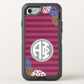 Alpha Phi | Monogram Stripe Pattern OtterBox Defender iPhone 8/7 Case