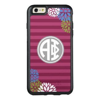 Alpha Phi | Monogram Stripe Pattern OtterBox iPhone 6/6s Plus Case