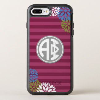 Alpha Phi | Monogram Stripe Pattern OtterBox Symmetry iPhone 8 Plus/7 Plus Case
