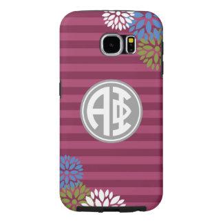 Alpha Phi | Monogram Stripe Pattern Samsung Galaxy S6 Cases