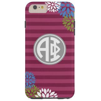 Alpha Phi | Monogram Stripe Pattern Tough iPhone 6 Plus Case