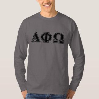 Alpha Phi Omega Black Letters T-Shirt