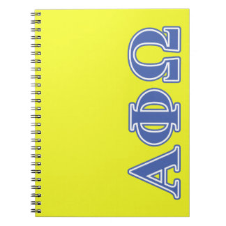 Alpha Phi Omega Blue Letters Notebook
