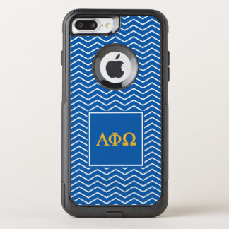 Alpha Phi Omega | Chevron Pattern OtterBox Commuter iPhone 8 Plus/7 Plus Case