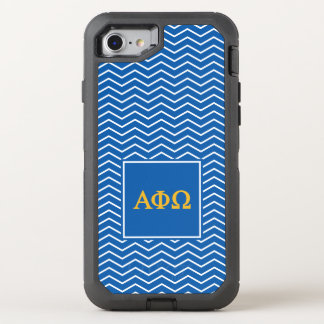 Alpha Phi Omega | Chevron Pattern OtterBox Defender iPhone 7 Case