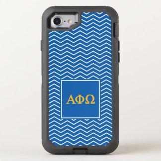 Alpha Phi Omega   Chevron Pattern OtterBox Defender iPhone 8/7 Case