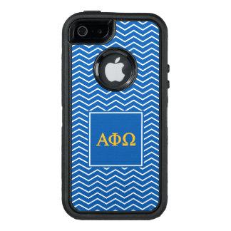 Alpha Phi Omega   Chevron Pattern OtterBox Defender iPhone Case