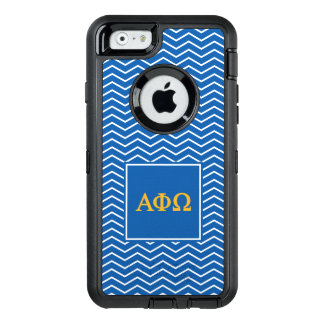 Alpha Phi Omega | Chevron Pattern OtterBox Defender iPhone Case