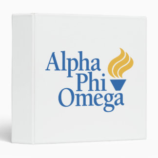 Alpha Phi Omega Color - Torch 3 Ring Binders