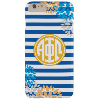 Alpha Phi Omega | Monogram Stripe Pattern Barely There iPhone 6 Plus Case