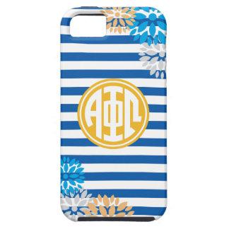 Alpha Phi Omega | Monogram Stripe Pattern iPhone 5 Case