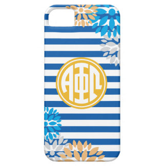 Alpha Phi Omega | Monogram Stripe Pattern iPhone 5 Cases