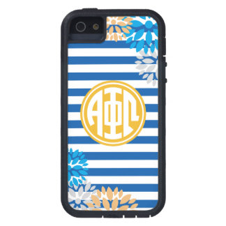 Alpha Phi Omega | Monogram Stripe Pattern iPhone 5 Covers