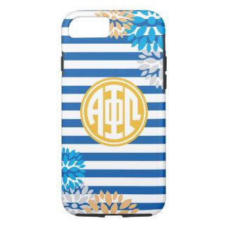 Alpha Phi Omega | Monogram Stripe Pattern iPhone 7 Case