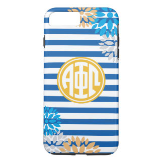 Alpha Phi Omega | Monogram Stripe Pattern iPhone 7 Plus Case