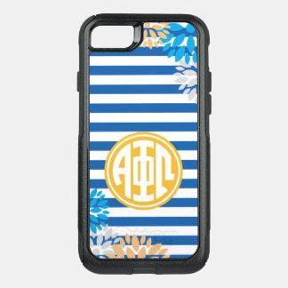 Alpha Phi Omega | Monogram Stripe Pattern OtterBox Commuter iPhone 7 Case