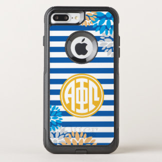 Alpha Phi Omega | Monogram Stripe Pattern OtterBox Commuter iPhone 8 Plus/7 Plus Case
