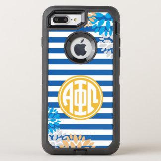 Alpha Phi Omega | Monogram Stripe Pattern OtterBox Defender iPhone 7 Plus Case