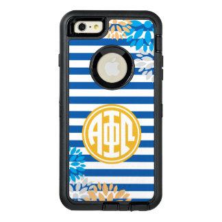 Alpha Phi Omega | Monogram Stripe Pattern OtterBox Defender iPhone Case
