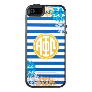 Alpha Phi Omega | Monogram Stripe Pattern OtterBox iPhone 5/5s/SE Case
