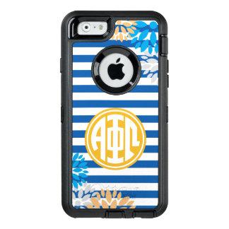 Alpha Phi Omega | Monogram Stripe Pattern OtterBox iPhone 6/6s Case