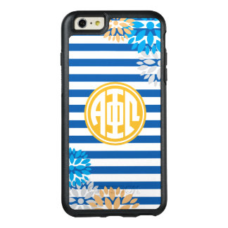 Alpha Phi Omega   Monogram Stripe Pattern OtterBox iPhone 6/6s Plus Case