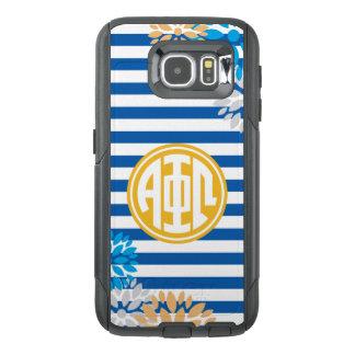 Alpha Phi Omega   Monogram Stripe Pattern OtterBox Samsung Galaxy S6 Case