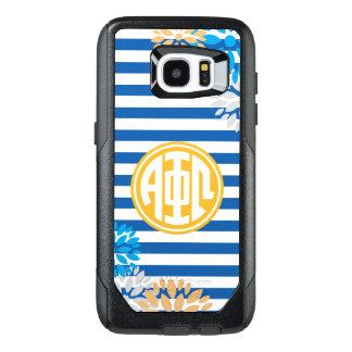 Alpha Phi Omega | Monogram Stripe Pattern OtterBox Samsung Galaxy S7 Edge Case
