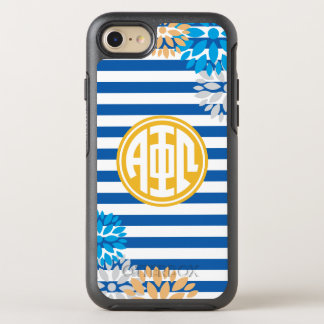 Alpha Phi Omega   Monogram Stripe Pattern OtterBox Symmetry iPhone 8/7 Case
