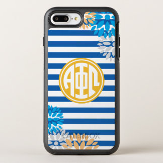 Alpha Phi Omega | Monogram Stripe Pattern OtterBox Symmetry iPhone 8 Plus/7 Plus Case