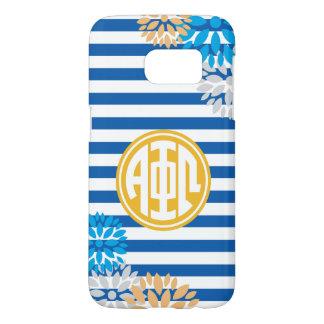 Alpha Phi Omega   Monogram Stripe Pattern Samsung Galaxy S7 Case