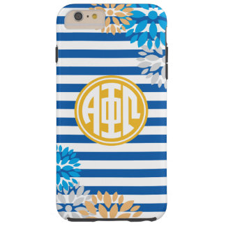 Alpha Phi Omega | Monogram Stripe Pattern Tough iPhone 6 Plus Case