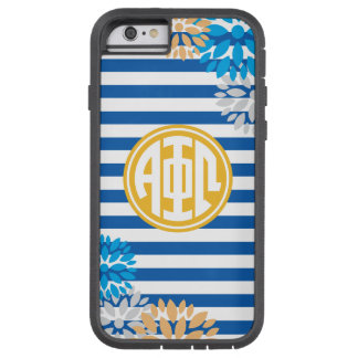 Alpha Phi Omega | Monogram Stripe Pattern Tough Xtreme iPhone 6 Case