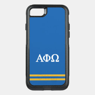 Alpha Phi Omega | Sport Stripe OtterBox Commuter iPhone 7 Case