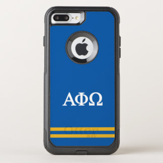 Alpha Phi Omega | Sport Stripe OtterBox Commuter iPhone 8 Plus/7 Plus Case