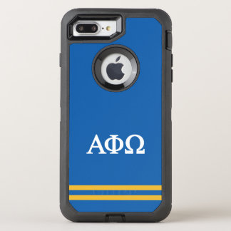 Alpha Phi Omega | Sport Stripe OtterBox Defender iPhone 8 Plus/7 Plus Case