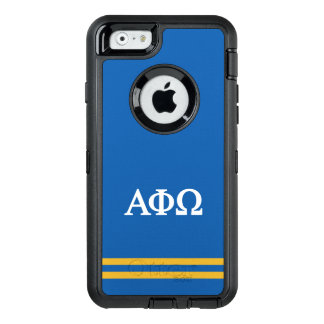 Alpha Phi Omega   Sport Stripe OtterBox Defender iPhone Case