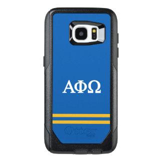Alpha Phi Omega | Sport Stripe OtterBox Samsung Galaxy S7 Edge Case