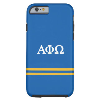 Alpha Phi Omega | Sport Stripe Tough iPhone 6 Case